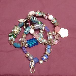 Set/3 Beaded Stretch Bracelets
